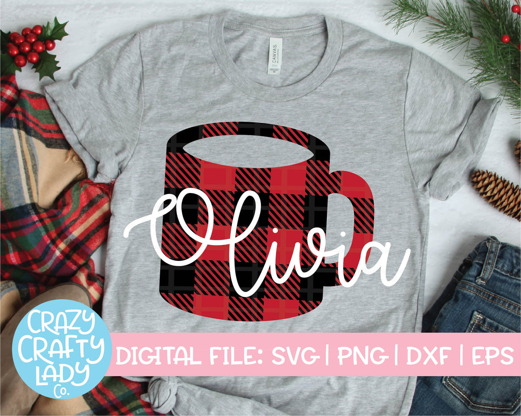 Buffalo Plaid Coffee Mug SVG Cut File