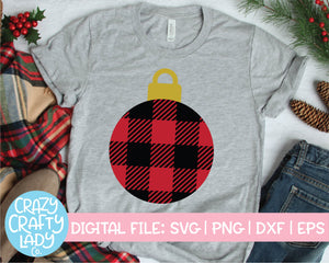 Buffalo Plaid Ornament SVG Cut File