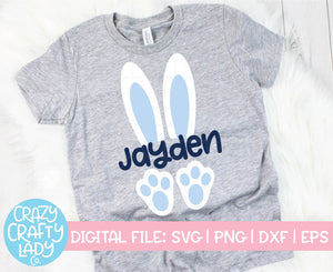 Bunny Ears & Feet SVG Cut File