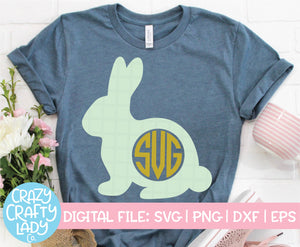 Bunny Monogram Frame SVG Cut File