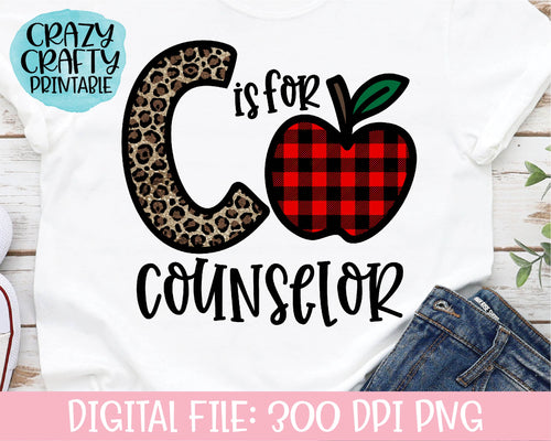C Is for Counselor PNG Printable File