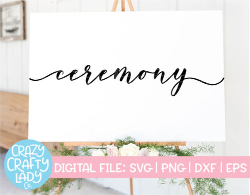 Ceremony SVG Cut File