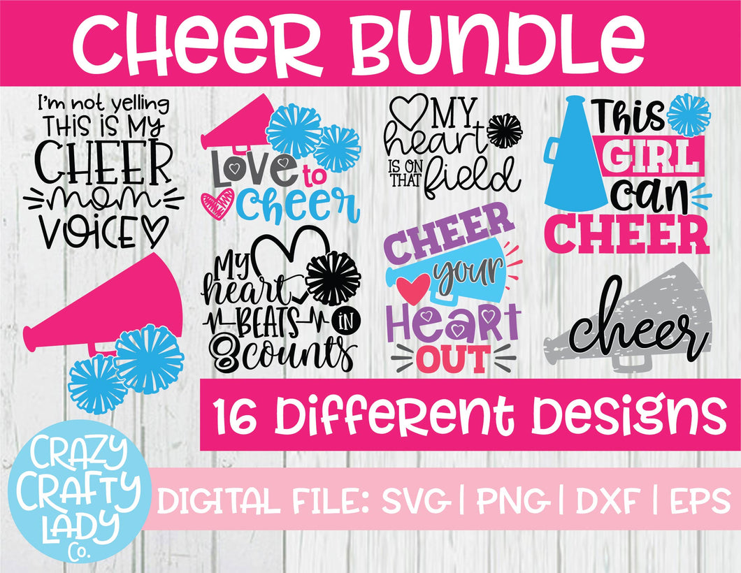 Cheer SVG Cut File Bundle