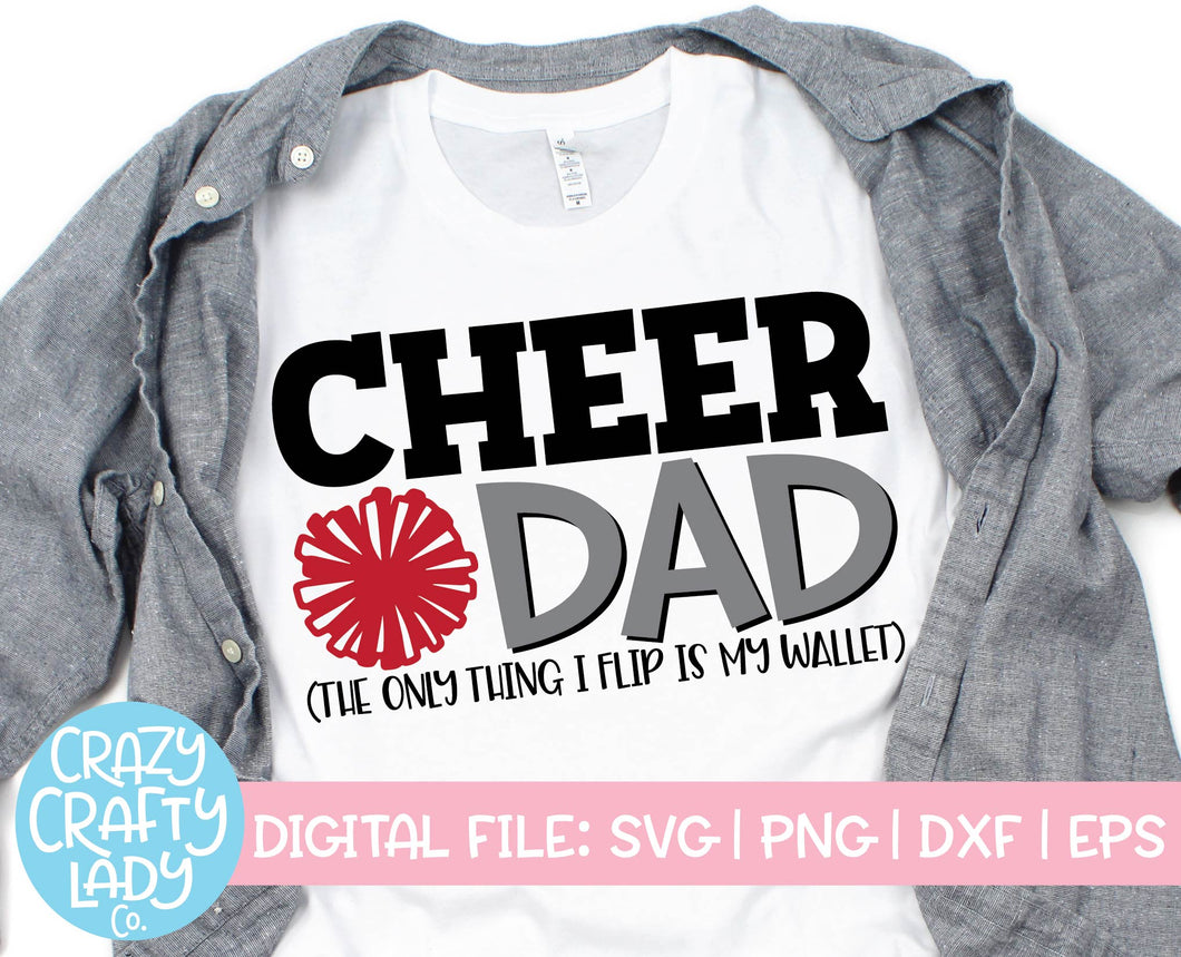 Cheer Dad SVG Cut File