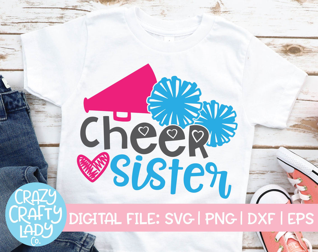 Cheer Sister SVG Cut File