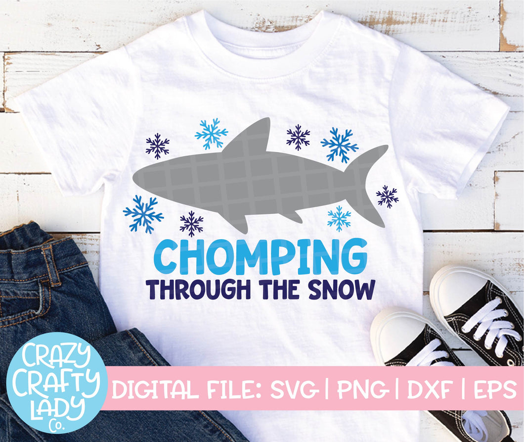 Chomping Through the Snow SVG Cut File