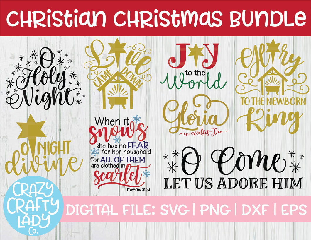 Christian Christmas SVG Cut File Bundle
