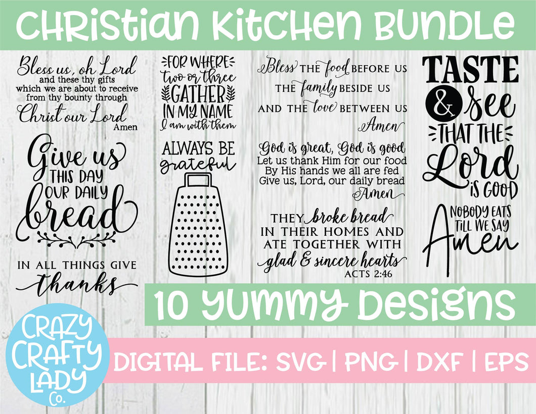 Christian Kitchen SVG Cut File Bundle