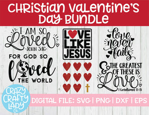Christian Valentine's Day SVG Cut File Bundle