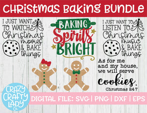 Christmas Baking SVG Cut File Bundle