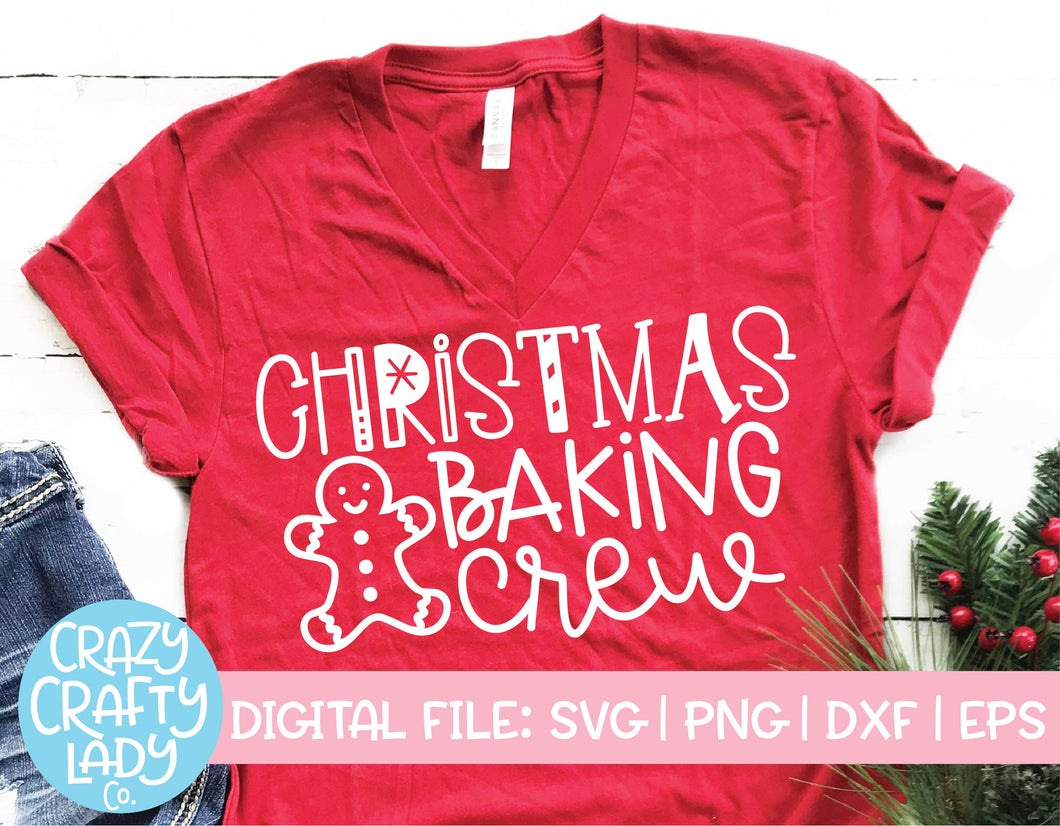 Christmas Baking Crew SVG Cut File