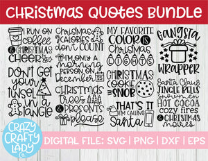 Christmas Quotes SVG Cut File Bundle