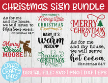 Load image into Gallery viewer, Big Christmas Sign SVG Cut File Bundle
