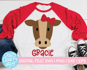 Girl Cow SVG Cut File