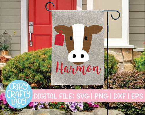 Cow with Ear Tag SVG Cut File