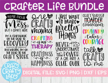Load image into Gallery viewer, Crafter Life SVG Cut File Bundle