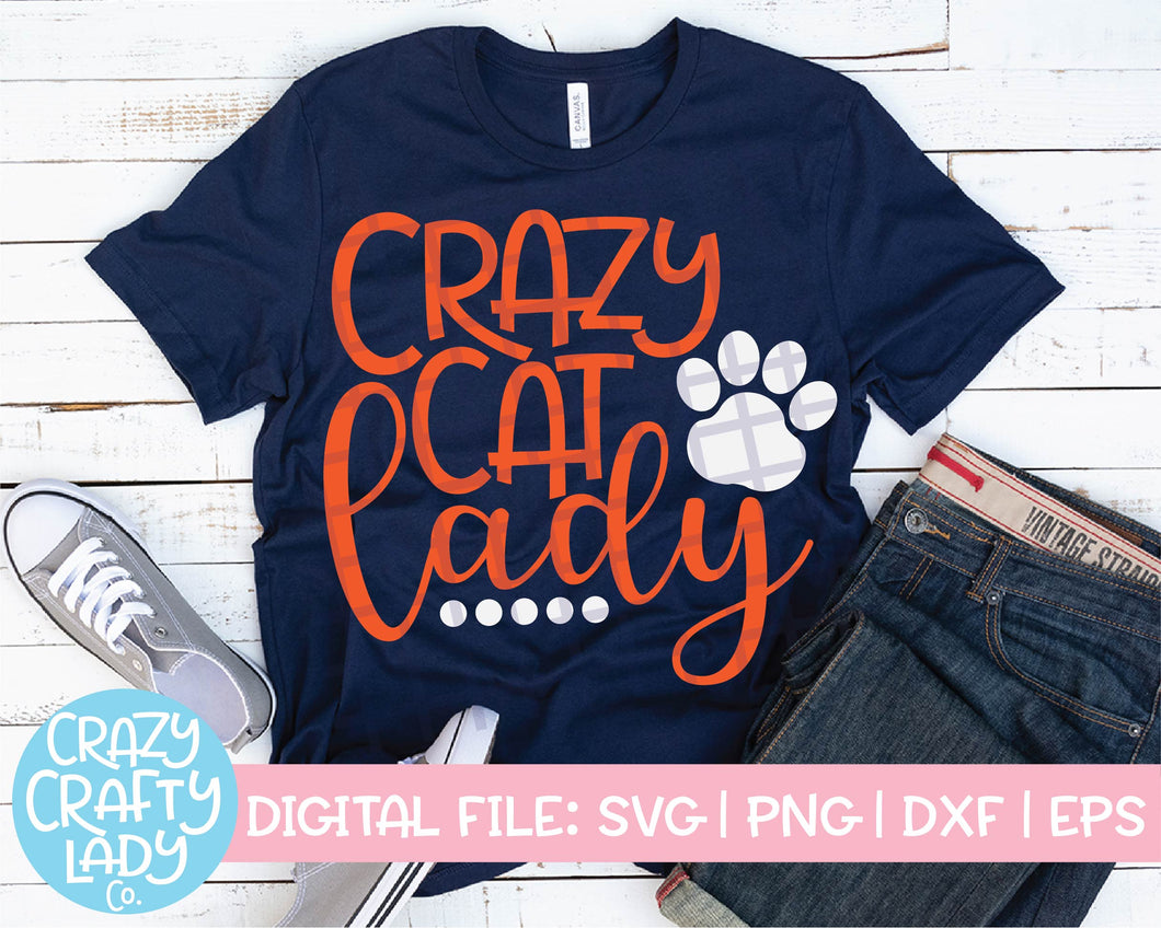 Crazy Cat Lady SVG Cut File