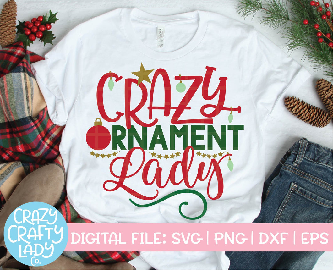 Crazy Ornament Lady SVG Cut File