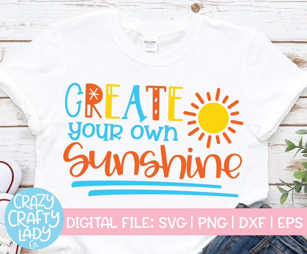 Create Your Own Sunshine SVG Cut File