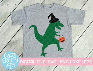 Halloween Dinosaur SVG Cut File