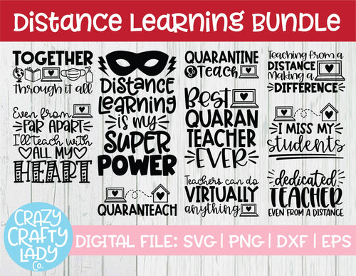Distance Learning SVG Cut File Bundle