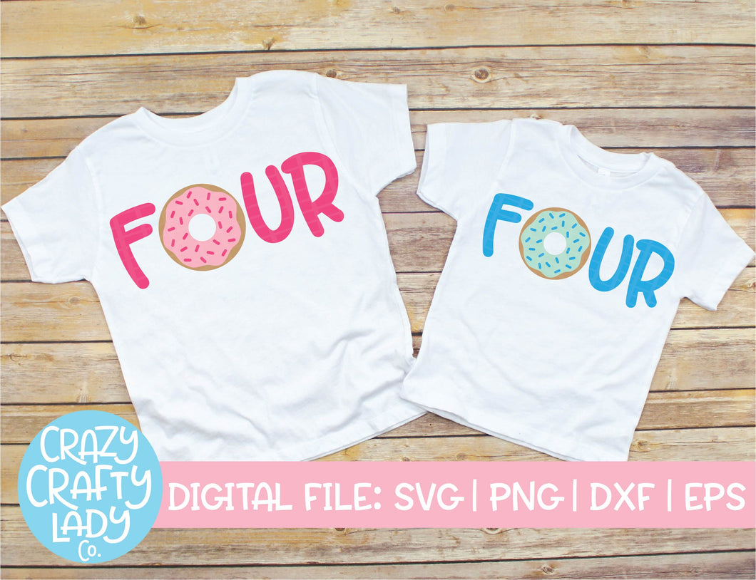 Donut Four SVG Cut File