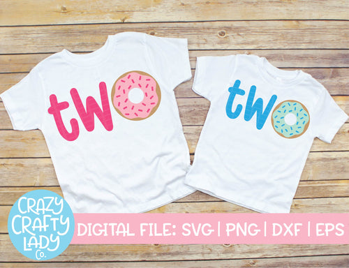 Donut Two SVG Cut File