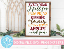 Load image into Gallery viewer, Fall Sign SVG Cut File Bundle