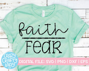 Faith Over Fear SVG Cut File