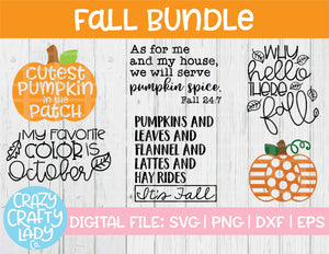Fall SVG Cut File Bundle