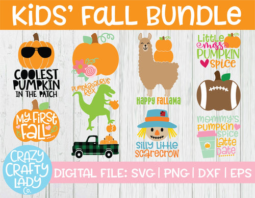 Kids' Fall SVG Cut File Bundle