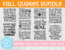 Load image into Gallery viewer, Fall Quotes SVG Cut File Bundle