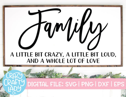 Family SVG Cut File