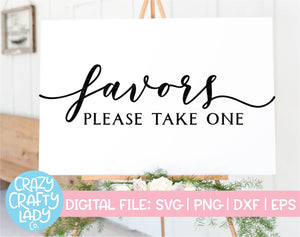 Favors SVG Cut File