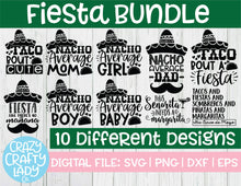 Load image into Gallery viewer, Fiesta SVG Cut File Bundle