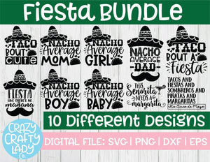Fiesta SVG Cut File Bundle