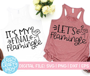 Flamingle Bachelorette SVG Cut File Bundle