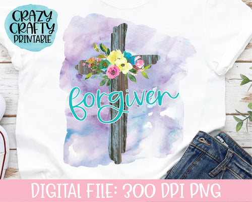 Forgiven PNG Printable File
