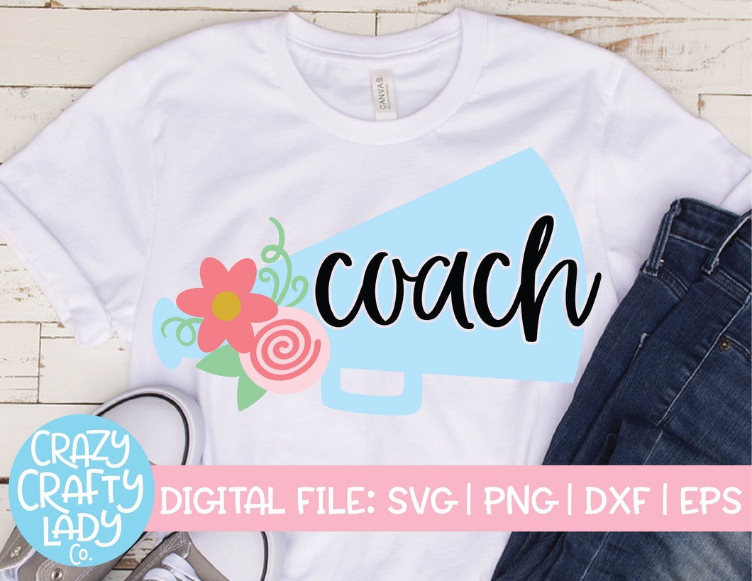 Cheer Coach SVG Cut File