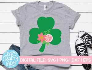 Floral Clover SVG Cut File