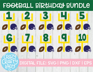 Football Birthday SVG Cut File Bundle