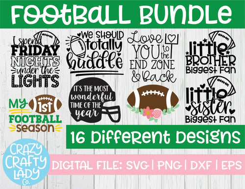 Football SVG Cut File Bundle