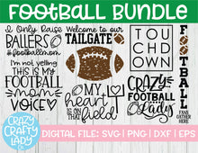 Load image into Gallery viewer, Football SVG Cut File Bundle