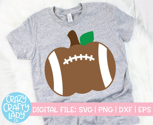 Football Pumpkin SVG Cut File