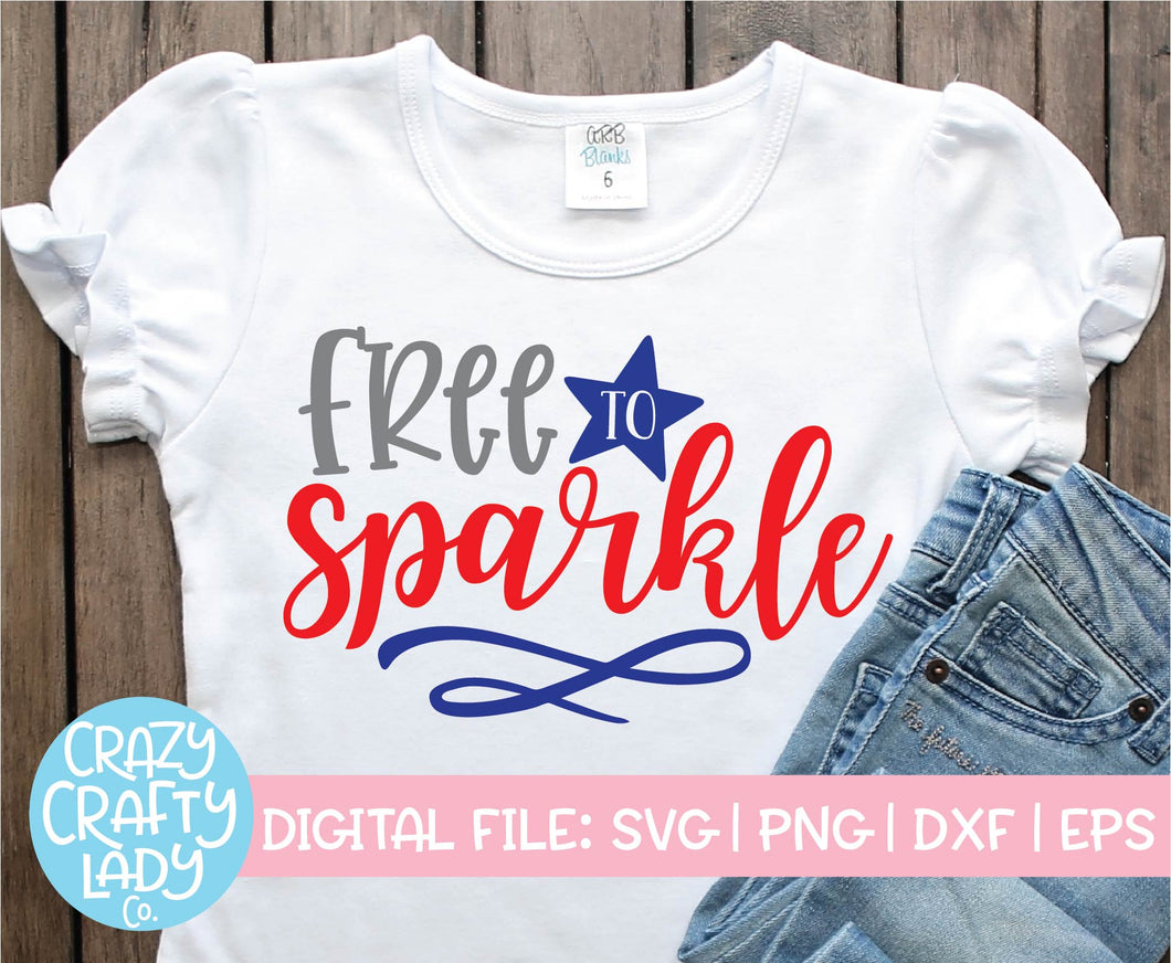 Free to Sparkle SVG Cut File