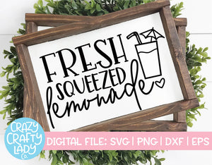 Fresh Squeezed Lemonade SVG Cut File