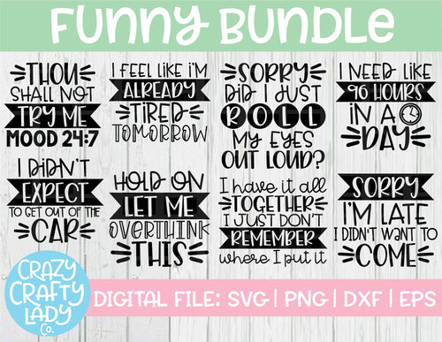 Funny SVG Cut File Bundle