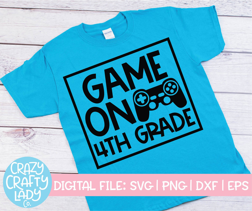 Game On 4th Grade SVG Cut File