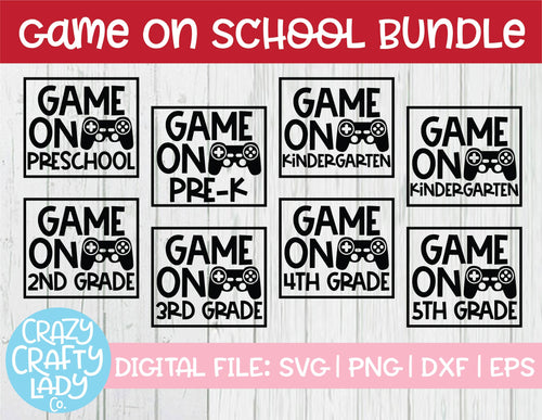 Game On School SVG Cut File Bundle