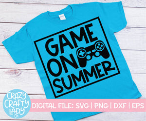 Game On, Summer SVG Cut File